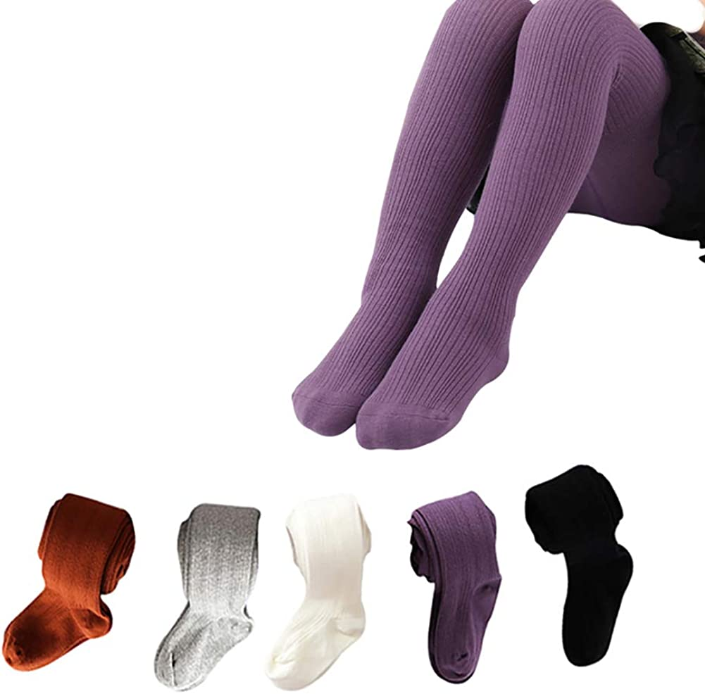 Pack of 3//6 Epeius Baby Girls Seamless Cable Knit Tights Cotton Leggings