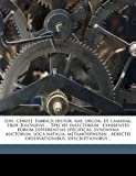 Ioh Christ Fabricii Histor Nat Oecon et Cameral Prof Kiloniens Species Insectorum, Bela 1890 Hubbard, 1149419229