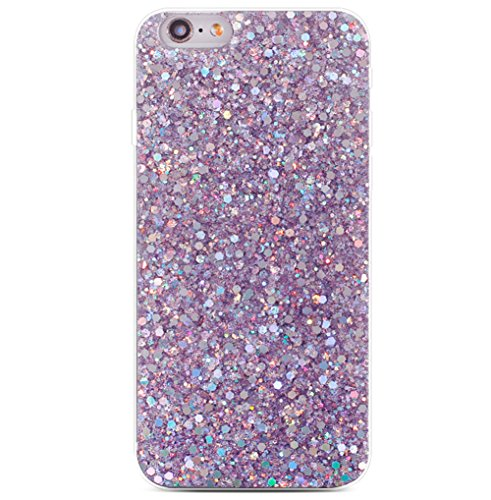 iPhone 8/7 Bling Case Sparkle Ombre Sequins Polka Dot Air Prism Glitter Translucent Soft TPU Flexible Slim 3D Design Case Cover for Apple iPhone 8/7(iPhone 8/7, Purple)