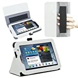 Samsung Galaxy Tab 2 7.0 Case - Poetic Samsung Galaxy Tab 2 7.0 Case [SlimBook Series] - [SlimFit] [Professional] PU Leather Slim Folio Case for Samsung Galaxy Tab 2 7.0 White (3 Year Manufacturer Warranty From Poetic)