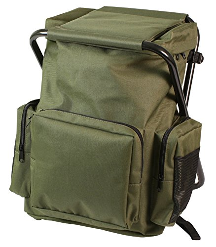Rothco Backpack & Stool Combo Pack, Olive Drab
