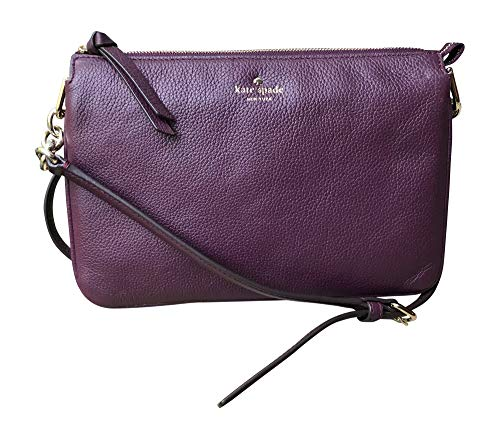 Kate Spade New York Madelyne Larchmont Avenue Crossbody Shoulder Bag (Deep Plum)