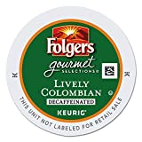 Folgers Lively Colombian Decaf K-Cup for Keurig Brewers, 96-Count