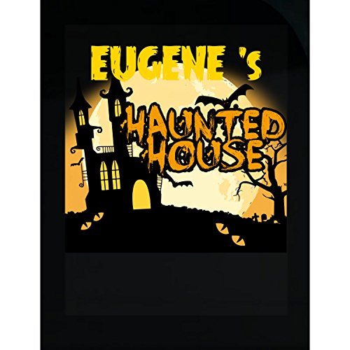 Prints Express Eugene S Haunted House Halloween Funny College Humor - Sticker -
