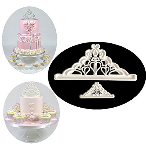 Mity Rain Crown Cookie Cutter Set - 2 Size - Crown and Princess Crown - CupCake Decorating Gumpaste Fondant Mould,Tiara Cutter,Set of 2