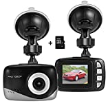 Foxcesd Mini Dash Cam (16GB Card Included ), Full HD 1080P DVR Dashboard Camera 140° Wide Angle Driving Video Recorder In Car Dash Camera with G-Sensor, Motion Detection, Loop Recording, Night Vision