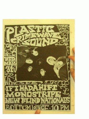 Plastic Crimewave Sound Poster Handbill Crime Wave Bottom Lounge Steven -