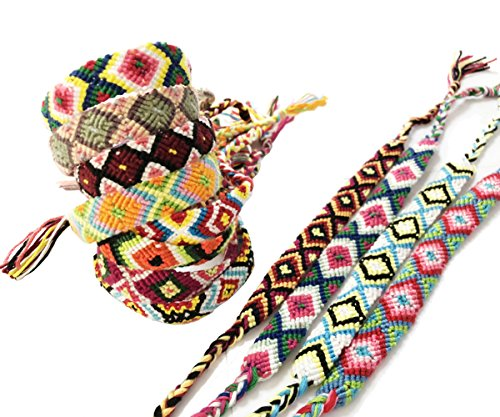 Rimobul Nepal Woven Friendship Bracelets - 12 Pack]()