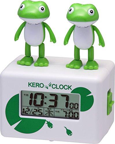 Rhythm Clock Alarm Clock Kero Clock 2 Singing Frog (Frog Clock)