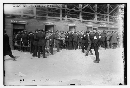 Vintage Reprints Photo Fans Lined up for World Series bleacher Seats at Yankee Stadium Baseball 1923 (Best Seats At Yankee Stadium For Baseball)