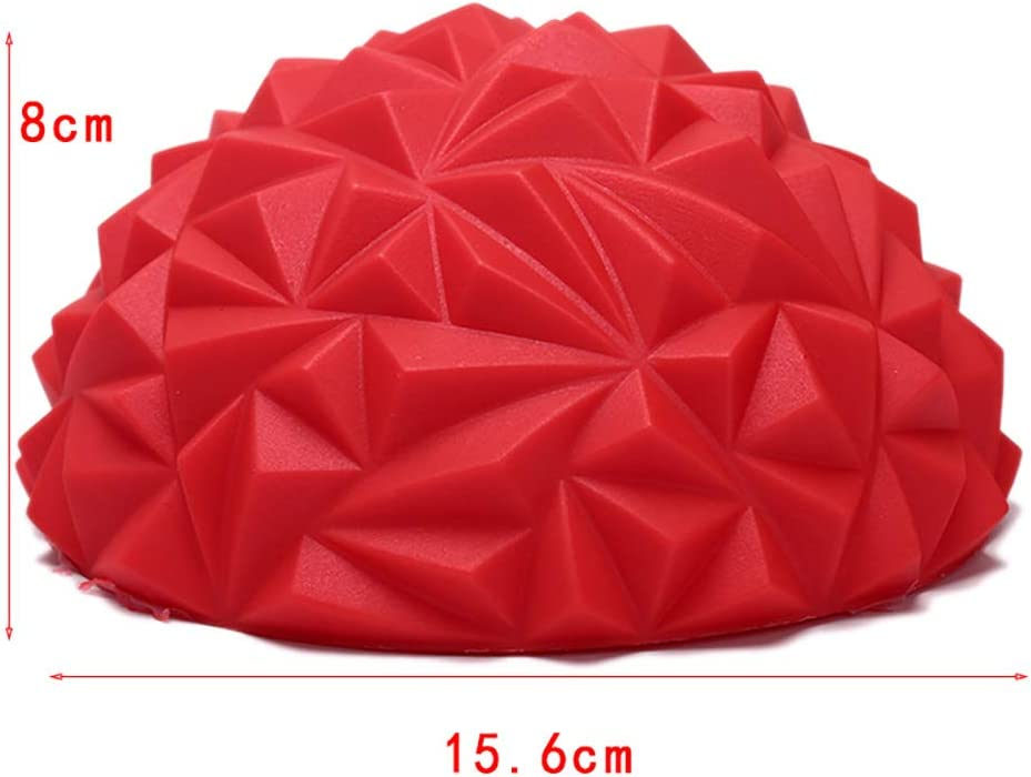 1 St/ück 15,6 cm Fitness B/älle Diamant Muster Ananas Ball Kinder Sense Training Yoga Halbball Wasserw/ürfel Fitness Equipment