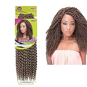 "Janet Mambo Open Loop Twist Out Tantalizing Braid 14"" Crochet Synthetic Kanekalon Braiding Hair (2)"