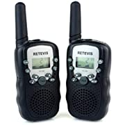 Amazon Lightning Deal 95% claimed: Retevis RT-388 2 Way Radio 22CH UHF 462.5625-467.7250MHz VOX Flashlight Portable Walkie Talkie for Children(Black, 2 Pack)