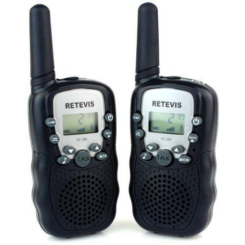 Amazon Lightning Deal 95% claimed: Retevis RT-388 2 Way Radio 22CH UHF 462.5625-467.7250MHz VOX Flashlight Portable Walkie Talkie for Children(Black, 2 Pack)
