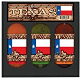 8 Pack TEXAS FLAG GRILL SET: Lime, Peach, Cajun Grilling Sauces in gift box 3pk