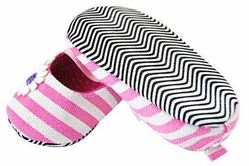 axy Baby Stoff Krabbelschuhe Babyschuhe 0 bis 12 Monate - Little Princess - Pink BS4-1