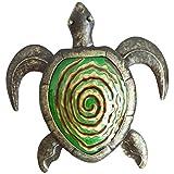 Comfy Hour 12' Green Bronze Metal Art Turtle Wall Decor