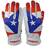 PrimalBaseball Youth Puerto Rico Baseball Batting Gloves for Sports Players - Youth Medium