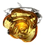 Honey Amber Sterling Silver Greatest Flower on the Earth Bracelet 7