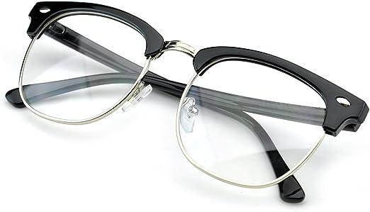 Vintage Inspired Classic Round  SunGlasses Horned rim Glass Lens 80