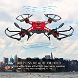 RC Quadcopter, Potensic Upgraded F183D RTF Drone with New Altitude Hold, Auto Hovering Function , 2MP Camera& 5.8Ghz FPV LCD Screen Monitor(Red)