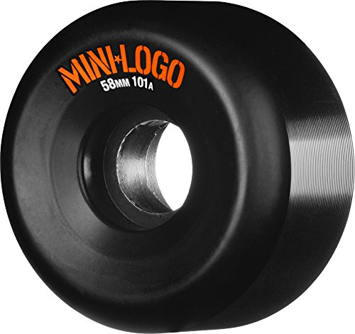 Mini-Logo Skateboards Mini-Logo A-cut 58 x 101 Black Skateboard Wheels, 58mm by Mini-Logo Skateboards