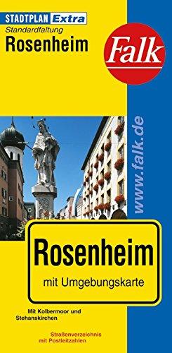 Falk Stadtplan Extra Standardfaltung Rosenheim mit Kolbermoor und Stephanskirchen