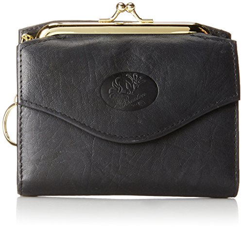 - Buxton Heiress French Purse Wallet, Black, One Size
