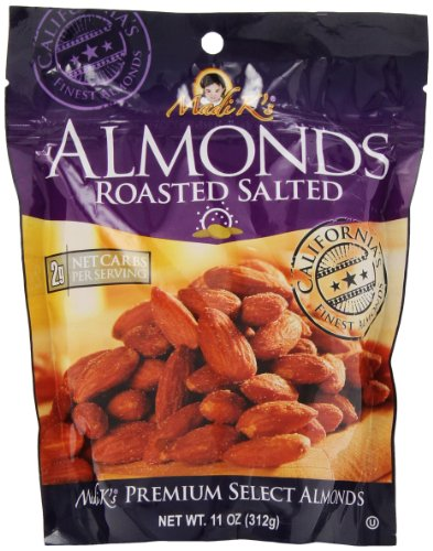 Madi K's Roasted and Salted Almonds, 11-Ounce Pouches (Pack of ()