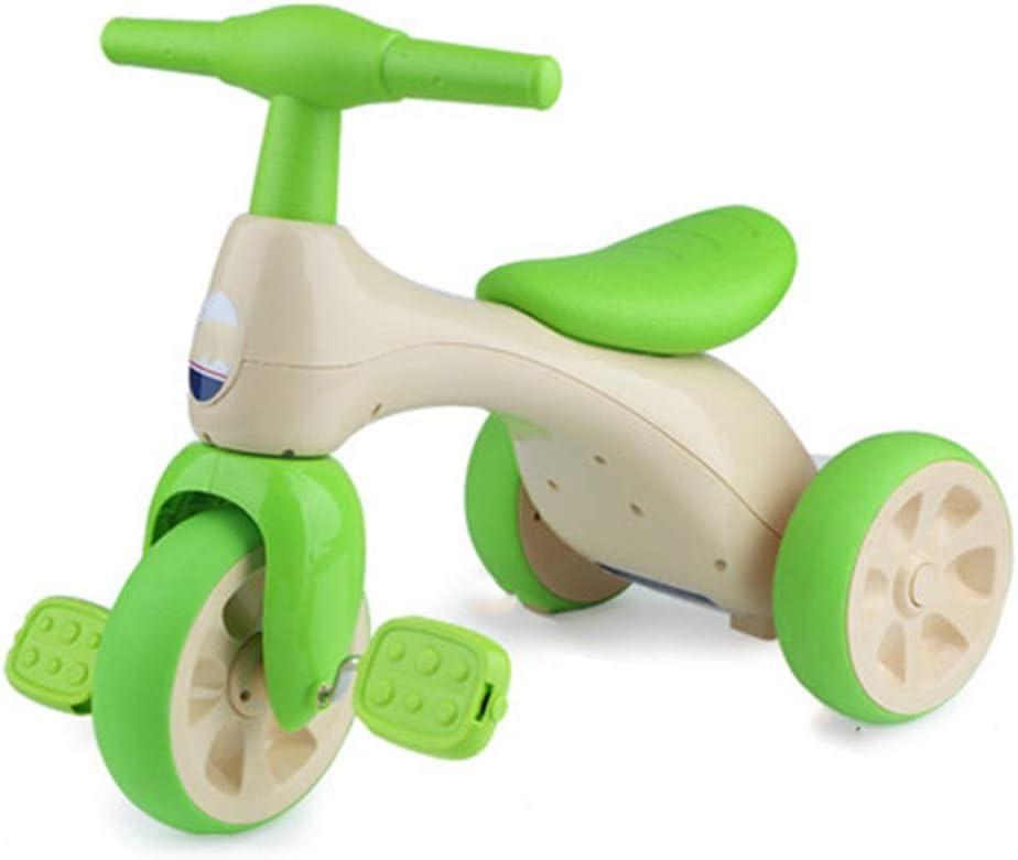 YUMEIGE triciclos Triciclo Infantil Pedal para niños Bicicleta 1-3 años Viejo, Carro de bebé Niños Niñas Juguete Carro Peso 50 kg (UVA púrpura, Verde Hierba Verde) Disponible