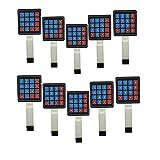 Diymore 10Pcs 4x4 Matrix Array 16 Key Membrane Switch Keypad 8-pin Keyboard for Arduino/AVR/PIC