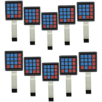 3x4 Membrane Switch Matrix Keypad Thin and Flexible with