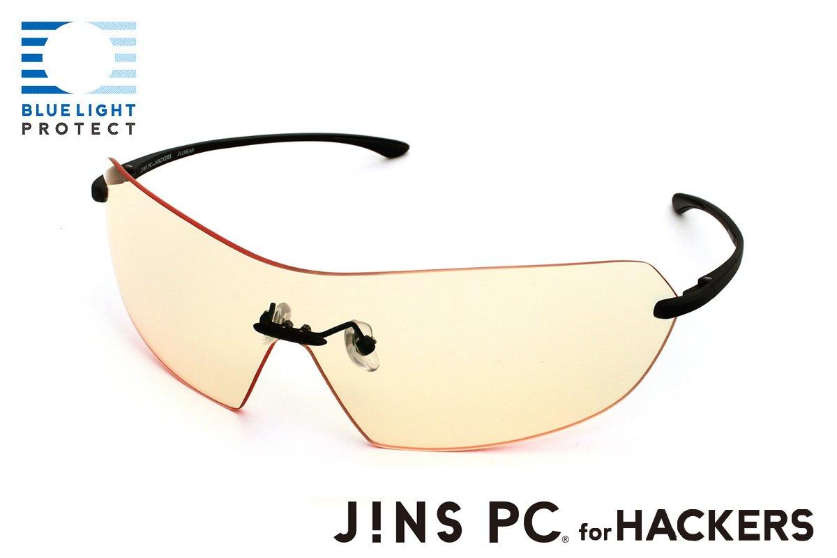 【JINS PC for HACKERS -LINEAR-】ディスプレイに集中できるスタイリッシュなPC専用メガネ(度なし)   B00F2BNIB0