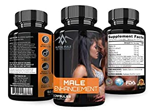 Alpha Male Enhancement Pills- Increase Natural Stamina, Endurance and Energy Booster - Fortifies Metabolism - Promotes Stronger Drive - Promotes Healthy Blood Flow for Men and Woman.