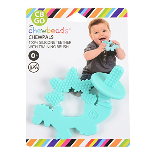 CB GO By Chewbeads Baby 100% Silicone Chewpal  - Dinosaur