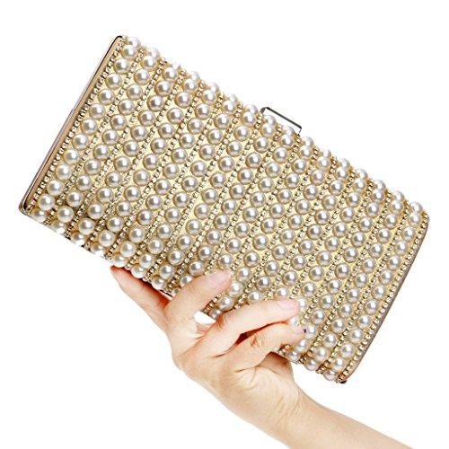unique doré taille BF Handbag Pochette pour noir femme noir qT0wS8q