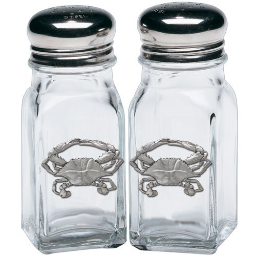 (1pc, Pewter Blue Crab Salt & Pepper Shakers)