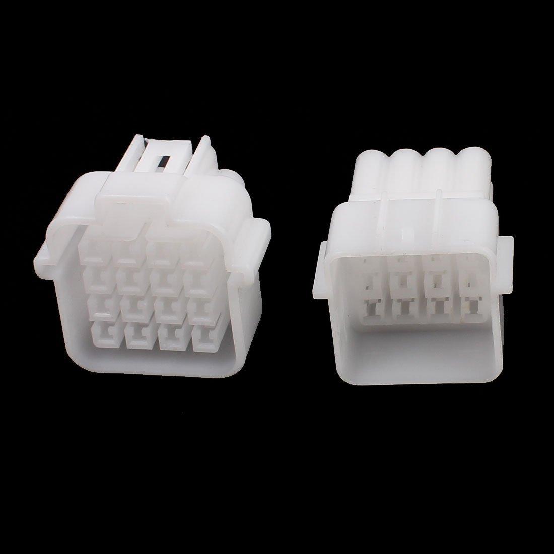 Amazon.com: eDealMax auto cerrado Kit de conectores a prueba de agua 16 Camino DE 2,3 mm Terminal de calor sistema de adaptador Blanca: Car Electronics