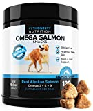 Salmon Oil for Dogs – Omega 3 Fish Oil For Dogs All-Natural Wild Alaskan Salmon Chews Omega 3 for Dogs for Healthy Skin & Coat, Cure Itchy Skin, Dog Allergies, Reduce Shedding – 120 Count Dog Fish Oil For Sale