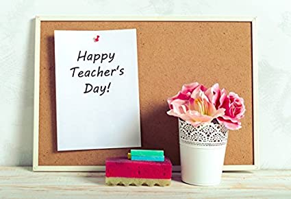 Amazon Com Ofila Happy Teacher S Day Backdrop 6x4ft Flowers