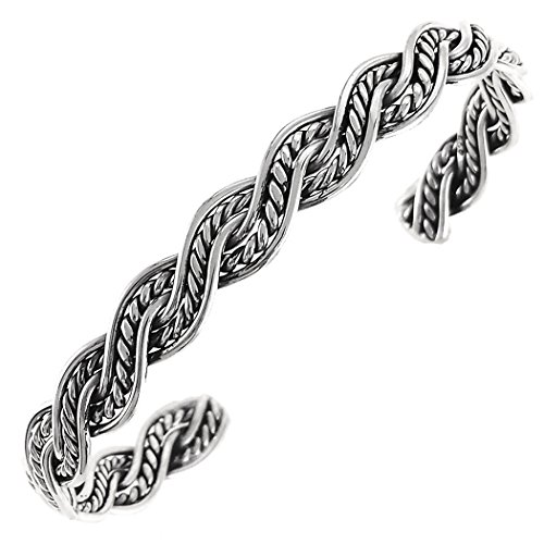 (Aleria Designs Sterling Silver Braided Cuff Bracelet)