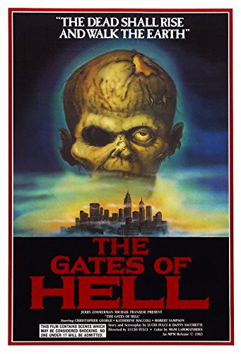 Movie Poster Hell - THE GATES OF HELL aka CITY OF THE LIVING DEAD Movie Poster Lucio Fulci 24x36inch