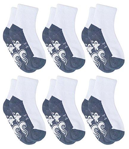 deluxe-anti-non-no-skid-slip-slipper-white-ankle-socks-for-little-toddler-kids-boys-girls3-5yrwhite-