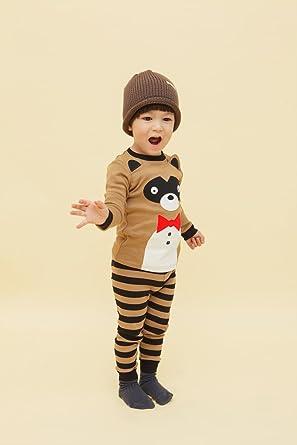 Vaenait baby Halloween Party 74 – 122 Niños Ropa Manga Larga zweiteilige schlafanzuege Pijama Tie Animal
