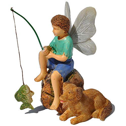 Cheap Miniature Fairy Garden Gone Fishin'