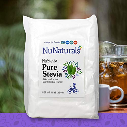 (NuNaturals PURE White Stevia Extract Powder Natural Sweetener, Sugar-Free (11,350 Servings) (1 lb))
