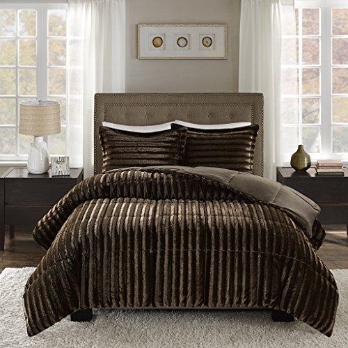 Madison Park Duke Full/Queen Size Bed Comforter Set - Chocol