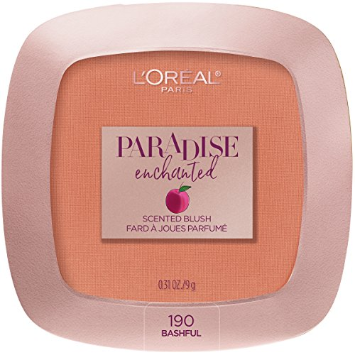 L'Oreal Paris Cosmetics Paradise Enchanted Fruit-Scented Blush Makeup, Bashful, 0.31 Ounce (Scented Blush)