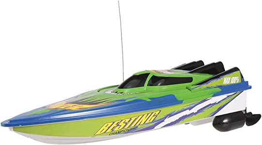 Goolsky RC Boat High Speed Boat radio controlled motor boat, 20km/h remote controlled toy gifts for children and beginner, remote controlled boat for lakes and pools