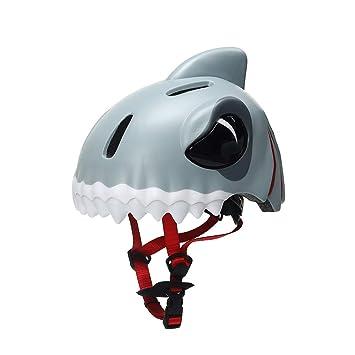 MJW Casco De Seguridad para Niños, Casco De Tiburón 3D Desmontable Casco De Bicicleta De